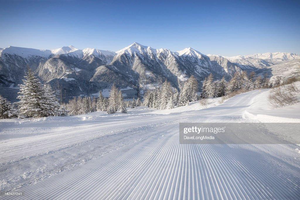 Alpine Ski Area : Stock Photo