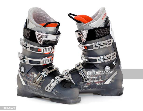alpine ski boots - ski racing stock pictures, royalty-free photos & images