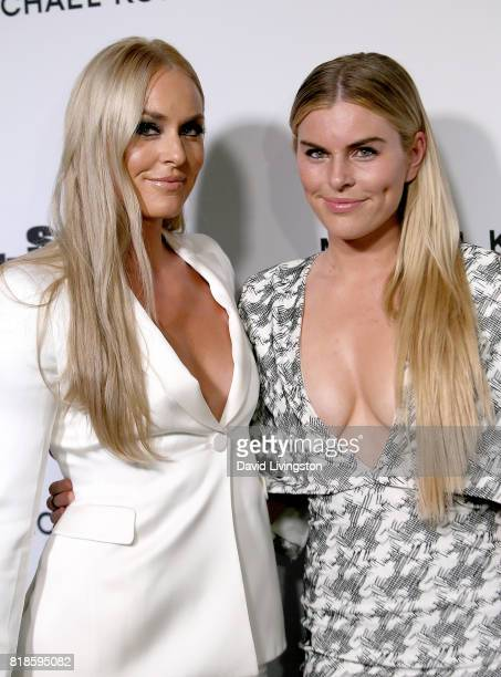 Alpine ski racer Lindsey Vonn and Karin Kildow attend Sports Illustrated Fashionable 50 at Avenue on July 18 2017 in Los Angeles California