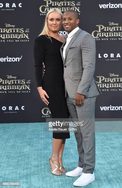 Alpine ski racer Lindsey Vonn and Kenan Smith arrive at the premiere of Disney's 'Pirates of the Caribbean Dead Men Tell No Tales' at Dolby Theatre...