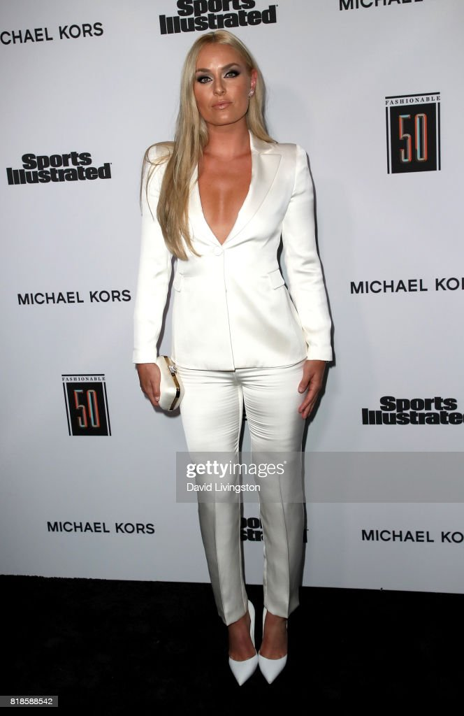 Alpine ski racer Lindsey Vonn attends Sports Illustrated Fashionable 50 at Avenue on July 18, 2017 in Los Angeles, California.