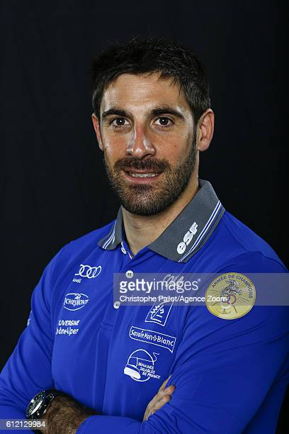 Alpine Skier Adrien Theaux of France during the French Ski Federation Team Presentations on October 3 2016 in Paris France