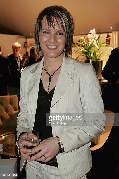 Alpine skier Hilde Gerg attends the Kitz Race Party after the Hahnenkamm slalom races January 27 2007 in Kitzbuehel Austria