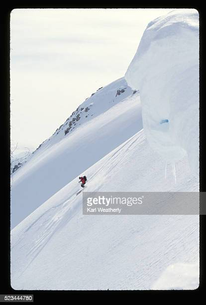 alpine skier in the chugach mountains - chugach mountains stock pictures, royalty-free photos & images