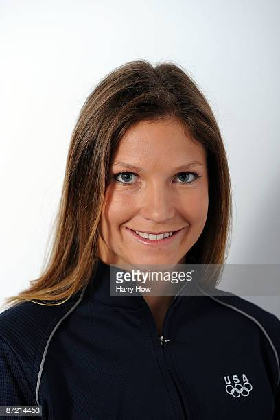 Alpine skier Julia Mancuso poses for a portrait during the NBC/USOC Promotional Photo Shoot on May 13 2009 at Smashbox Studios in Los Angeles...