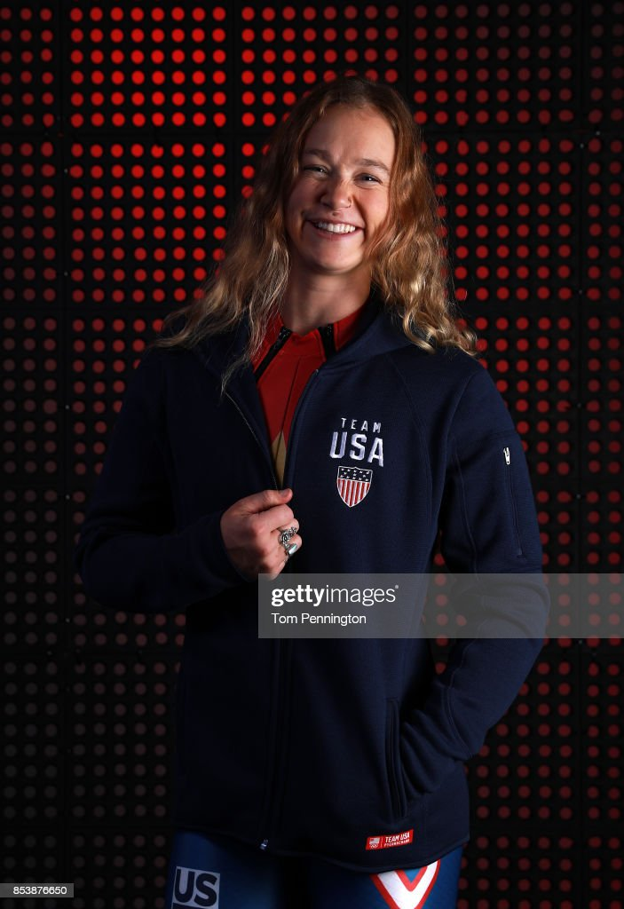 Alpine skier Laurenne Ross poses for a portrait during the Team USA Media Summit ahead of the PyeongChang 2018 Olympic Winter Games on September 25, 2017 in Park City, Utah.