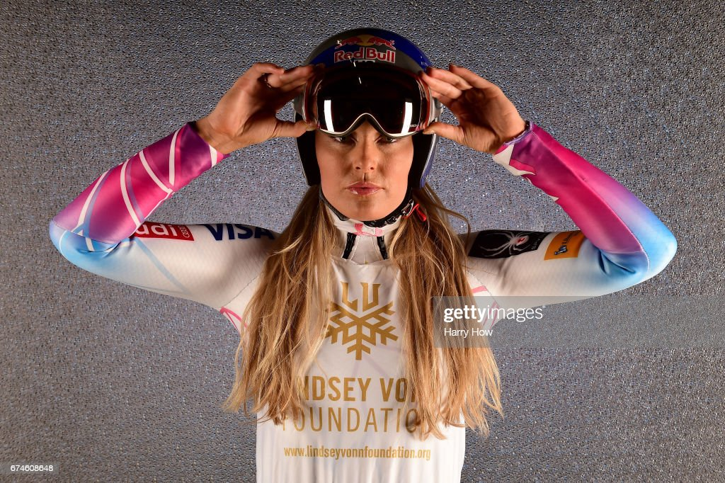 Alpine skier Lindsey Vonn poses for a portrait during the Team USA PyeongChang 2018 Winter Olympics portraits on April 28, 2017 in West Hollywood, California.