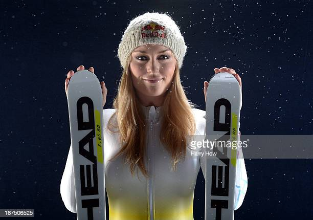 Alpine skier Lindsey Vonn poses for a portrait during the USOC Portrait Shoot on April 25 2013 in West Hollywood California