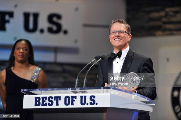 Alpine Skier Mark Bathum accepts the award for Male Athlete of the Paraylmpic Games at the USOC Olympic Committee Best of U.S. Awards Show at the...