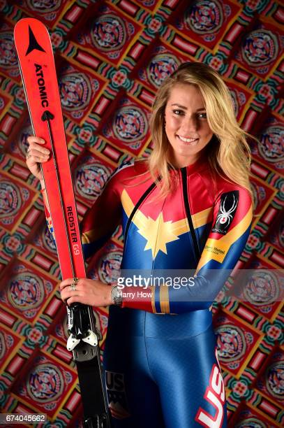 Alpine skier Mikaela Shiffrin poses for a portrait during the Team USA PyeongChang 2018 Winter Olympics portraits on April 27, 2017 in West...