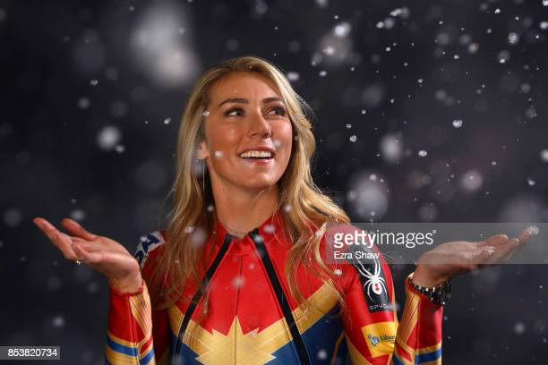 Alpine skier Mikaela Shiffrin poses for a portrait during the Team USA Media Summit ahead of the PyeongChang 2018 Olympic Winter Games on September...