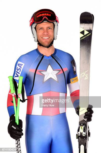 Alpine skier Steven Nyman poses for a portrait during the Team USA PyeongChang 2018 Winter Olympics portraits on April 27 2017 in West Hollywood...