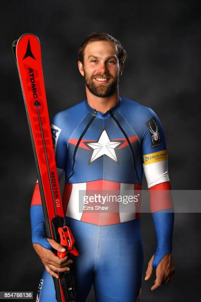 Alpine Skier Travis Ganong poses for a portrait during the Team USA Media Summit ahead of the PyeongChang 2018 Olympic Winter Games on September 27...