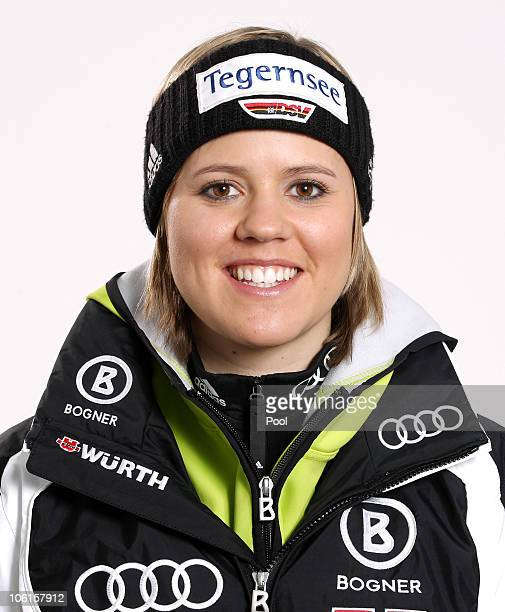 Alpine skier Viktoria Rebensburg of Germany poses during a photo call on October 26 2010 in Ingolstadt Germany