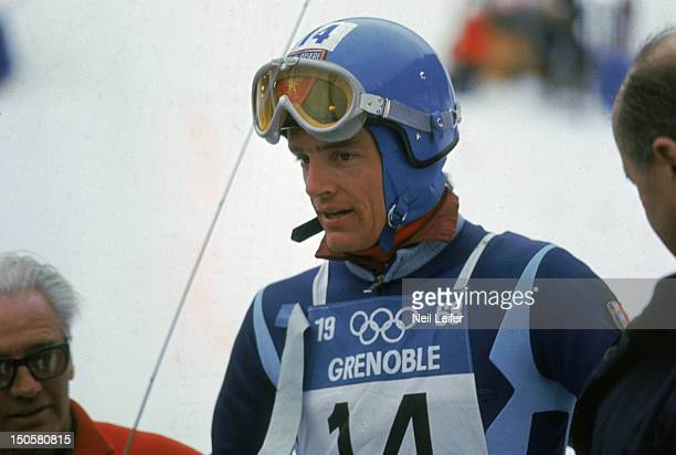 1968 Winter Olympics Closeup of France JeanClaude Killy during Men's Downhill competition Chamrousse France 2/9/1968 CREDIT Neil Leifer