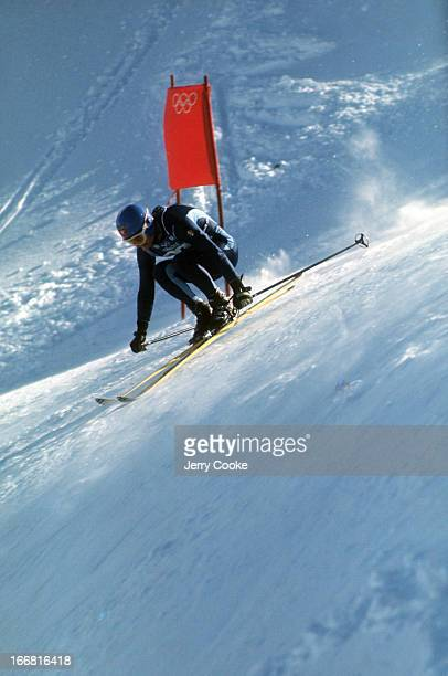 1968 Winter Olympics France JeanClaude Killy in action during Men's Slalom competition at Chamrousse Grenoble France 2/17/1968 CREDIT Jerry Cooke