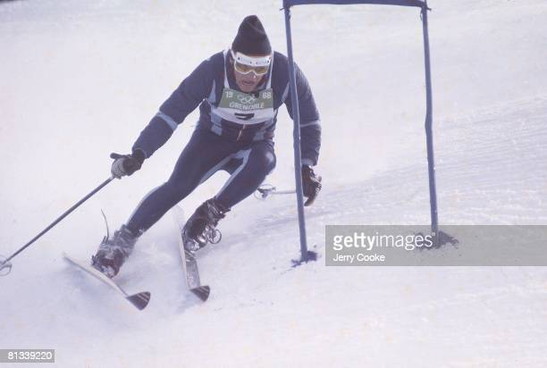 Alpine Skiing 1968 Winter Olympics France JeanClaude Killy in action during Slalom competition Grenoble France 2/8/1968