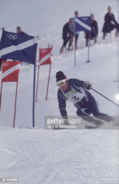 Alpine Skiing 1968 Winter Olympics France JeanClaude Killy in action during Giant Slalom competition Grenoble France 2/12/1968