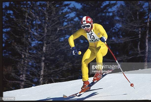 1976 Winter Olympics Austria Franz Klammer in action during Men's Downhill at Patscherkofel Cover Innsbruck Austria 2/5/1976 CREDIT Helmut Gritscher