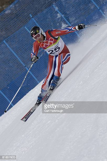 Alpine Skiing 2006 Winter Olympics Norway Kjetil Andre Aamodt in action during Super G at Sestriere Borgata Sestriere Italy 2/18/2006