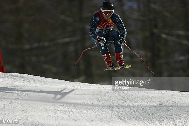 Alpine Skiing 2006 Winter Olympics USA Scott Macartney in action during Super G at Sestriere Borgata Alpine Skiing 2006 Winter Olympics Austria...