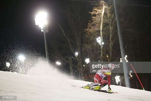 2014 Winter Olympics Switzerland Daniel Yule in action during Men's Slalom Run 2 at Rosa Khutor Alpine Center Krasnaya Polyana Russia 2/22/2014...