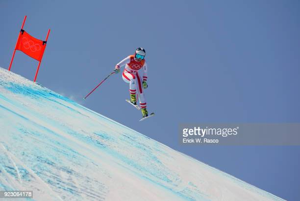 2018 Winter Olympics Austria Ramona Siebenhofer in action during Women's Alpine Combined Slalom at Jeongseon Alpine Centre PyeongChangGun South Korea...