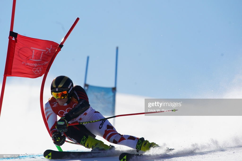 Croatia Leona Popovic (30) in action during Women's Giant Slalom Final at Yongpyong Alpine Centre. PyeongChang, South Korea 2/15/2018 Erick W. Rasco X161681 TK1 )