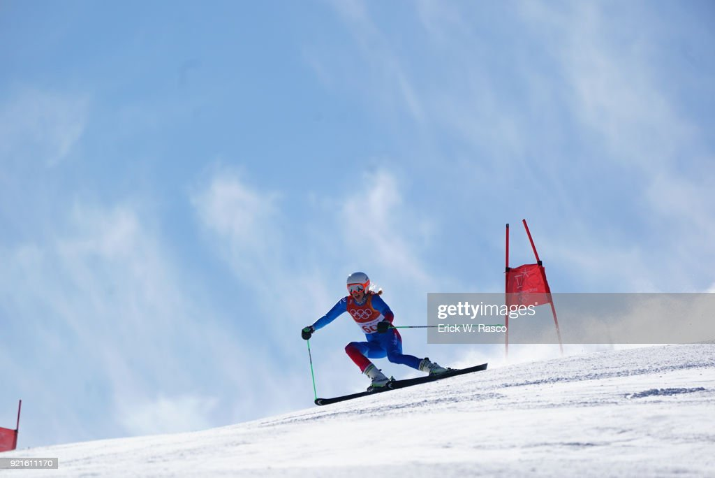 Iceland Freydis Einarsdottir (60) in action during Women's Giant Slalom Final at Yongpyong Alpine Centre. PyeongChang, South Korea 2/15/2018 Erick W. Rasco X161681 TK1 )