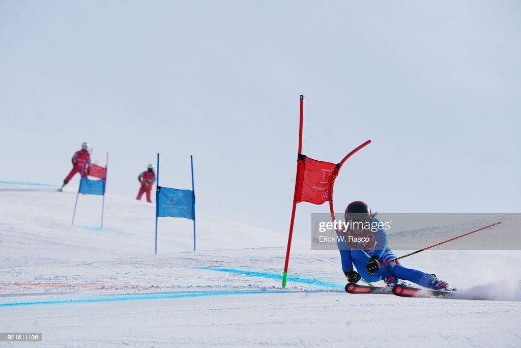 Italy Manuela Moelgg (1) in action during Women's Giant Slalom Final at Yongpyong Alpine Centre. PyeongChang, South Korea 2/15/2018 Erick W. Rasco X161681 TK1 )