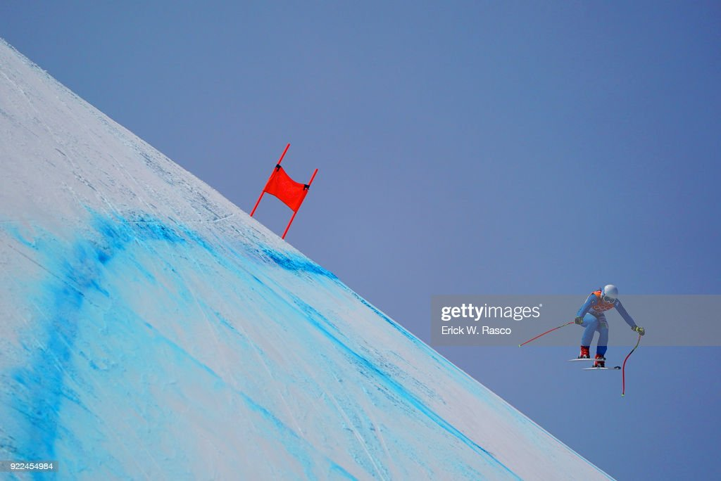Italy Nicol Delago (21) in action during Women's Downhill Final at Jeongseon Alpine Centre. PyeongChang, South Korea 2/21/2018 Erick W. Rasco X161687 TK1 )