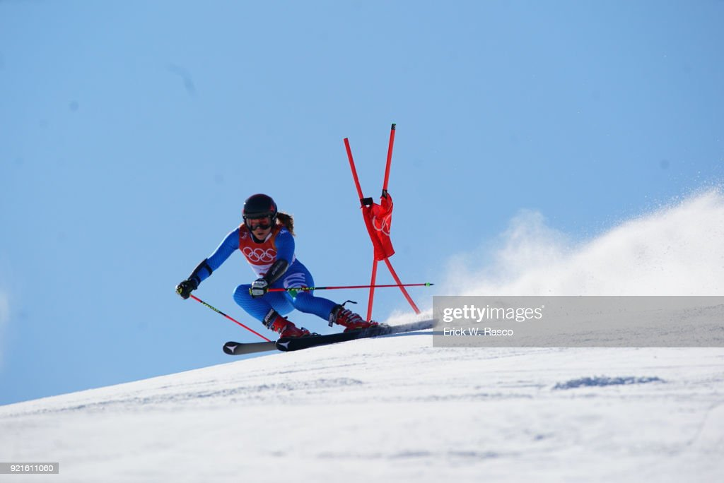 Italy Sofia Goggia (14) in action during Women's Giant Slalom Final at Yongpyong Alpine Centre. PyeongChang, South Korea 2/15/2018 Erick W. Rasco X161681 TK1 )
