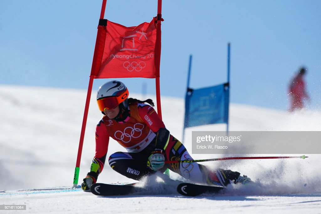 Liechtenstein Tina Weirather (17) in action during Women's Giant Slalom Final at Yongpyong Alpine Centre. PyeongChang, South Korea 2/15/2018 Erick W. Rasco X161681 TK1 )