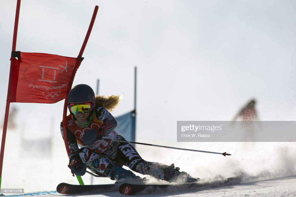 Mexico Sarah Schleper (40) in action during Women's Giant Slalom Final at Yongpyong Alpine Centre. PyeongChang, South Korea 2/15/2018 Erick W. Rasco X161681 TK1 )