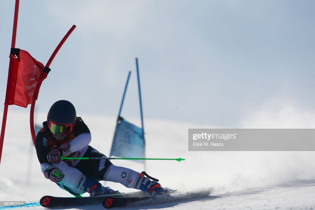 New Zealand Alice Robinson (35) in action during Women's Giant Slalom Final at Yongpyong Alpine Centre. PyeongChang, South Korea 2/15/2018 Erick W. Rasco X161681 TK1 )