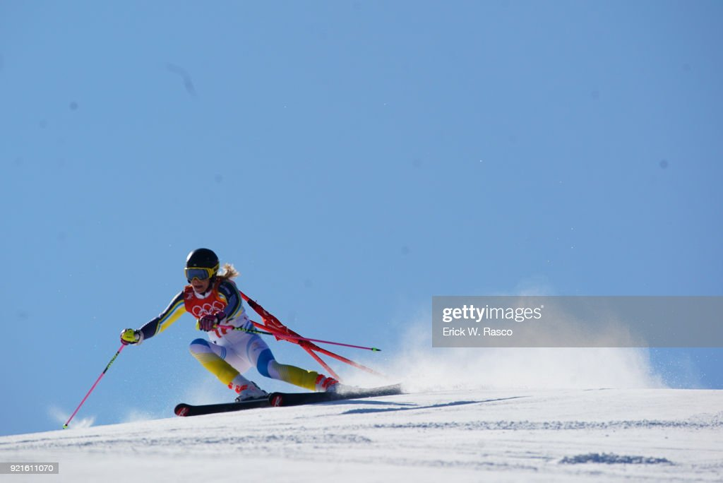 Sweden Frida Hansdotter (16) in action during Women's Giant Slalom Final at Yongpyong Alpine Centre. PyeongChang, South Korea 2/15/2018 Erick W. Rasco X161681 TK1 )