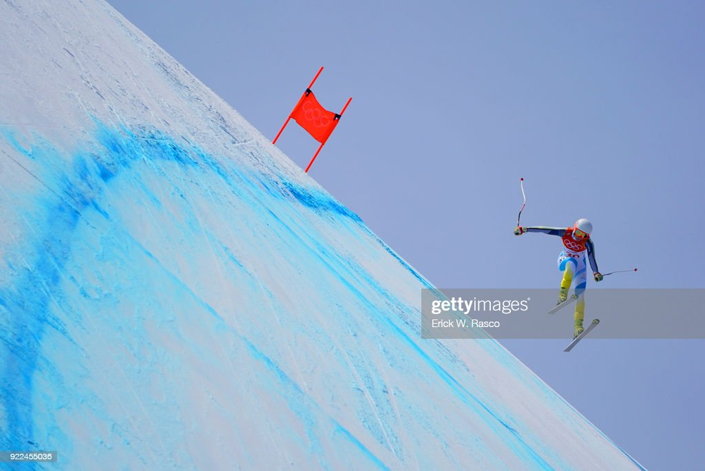 Sweden Lisa Hoernblad (30) in action during Women's Downhill Final at Jeongseon Alpine Centre. PyeongChang, South Korea 2/21/2018 Erick W. Rasco X161687 TK1 )
