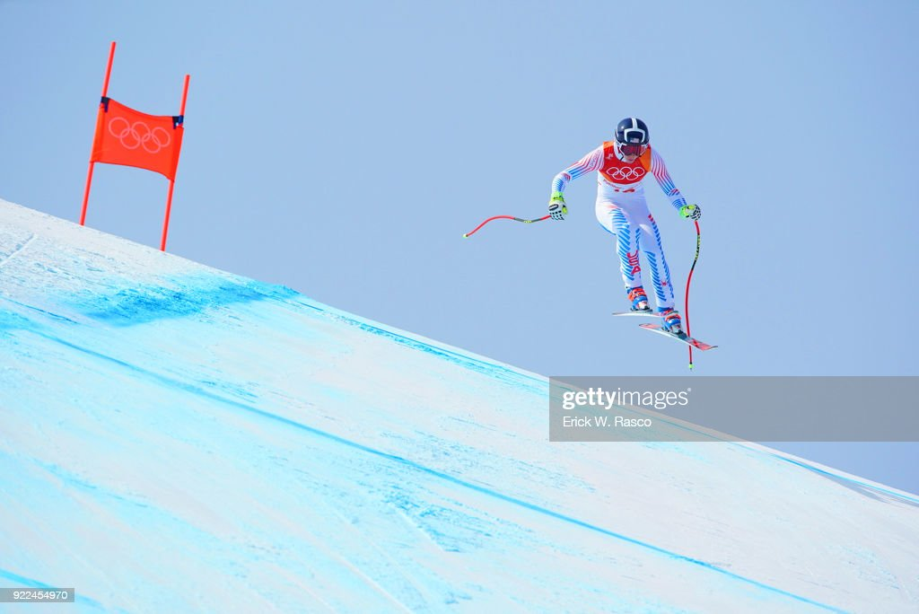 USA Laurenne Ross (10) in action during Women's Downhill Final at Jeongseon Alpine Centre. PyeongChang, South Korea 2/21/2018 Erick W. Rasco X161687 TK1 )