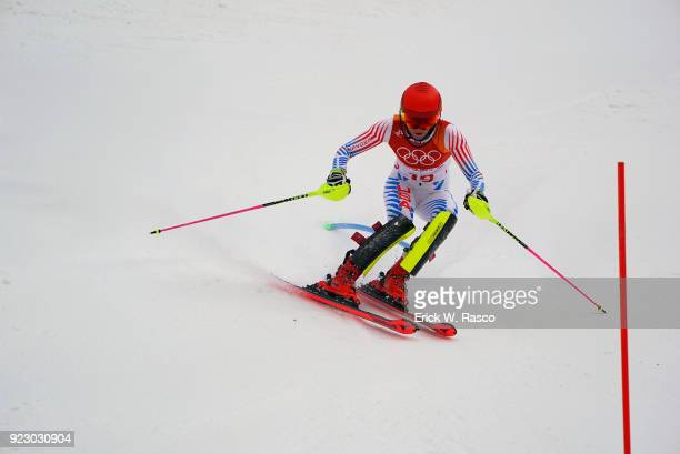 2018 Winter Olympics USA Mikaela Shiffrin in action during Women's Alpine Combined Slalom Final at Jeongseon Alpine Centre Shiffrin wins silver...
