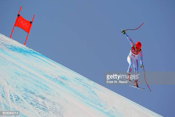 2018 Winter Olympics USA Mikaela Shiffrin in action during Women's Alpine Combined Slalom at Jeongseon Alpine Centre Shiffrin wins silver...