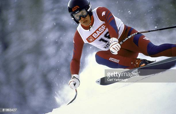 Alpine Skiing FIS Ski World Cup USA Bill Johnson in action during Downhill competition Megeve France 1/1/1986