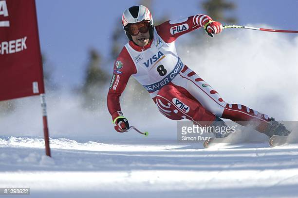 Alpine Skiing FIS World Cup ITA Roland Fischnaller in action during downhill competition Beaver Creek CO 12/3/2004