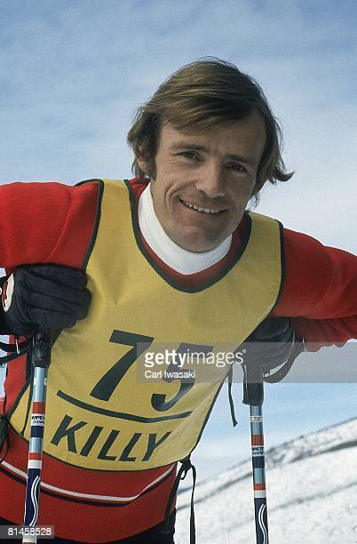 Alpine Skiing Pro Classic Closeup portrait of France JeanClaude Killy during competition Vail CO