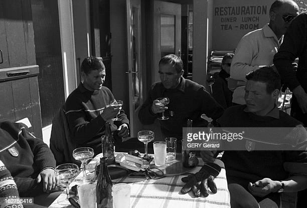Alpine Skying Championships Kandahar En Suisse à Mürren en mars 1961se déroule l'ARLBERGKANDAHAR 3ème compétition de ski alpin après les Jeux...