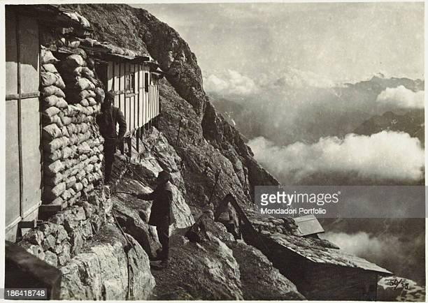ARMY Alpine troopers' shelters on Tofane Italy 19161918 Gelatine process Rome Central Museum of the Risorgimento