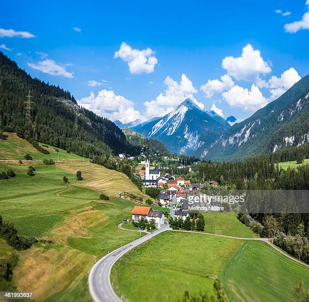 alpine village guarda, switzerland - guarda switzerland stock pictures, royalty-free photos & images