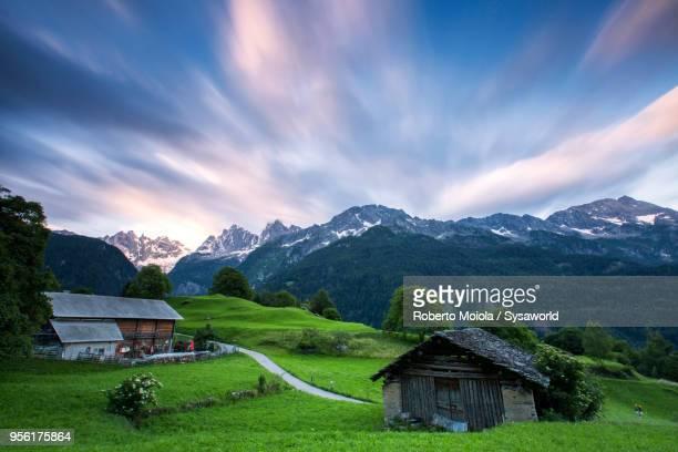 Alpine village of Soglio at dawn, Switzerland