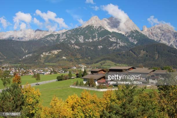 alpine village - saalfelden stock pictures, royalty-free photos & images