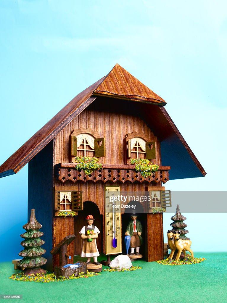 Alpine weather house : Stock-Foto