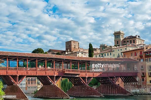 alpini bridge, bassano del grappa, veneto, italy - バッサーノデルグラッパ ストックフォトと画像